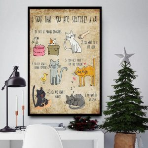 6 signs that you are secretly a cat poster canvas